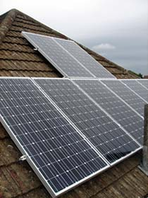 Installation of a solar panel installation