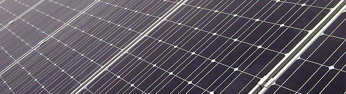 A close up of a solar panel