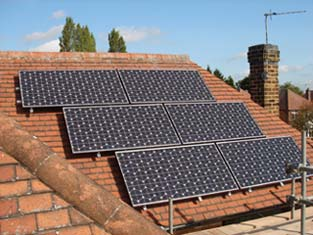 Sanyo solar panel installation