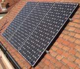 Sanyo 3 panel solar installation