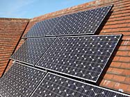 Sanyo multiple solar panel installation