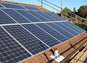 BP PV solar panel installation